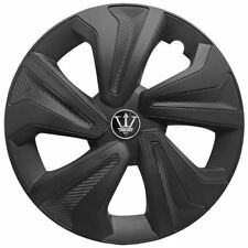 "Wheel Trim cover 15"" Inch Set of 4 Matt Black carbon effect Universal Fit Hubs"