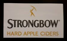 Strongbow Cider Promotional Vinyl Sticker for Outdoor or Indoor use.