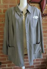 Gemini II 2 Long Sleeve Button Down Gray Jacket Top Plus Size 2X