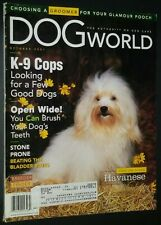 Dogs World Illustrated Magazine Havanese Cover + Photos & Articles Oct. 2001