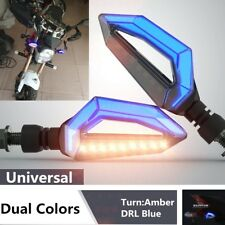 DRL Turn Signal Dual Color Motorcycle Accessories 12V Low heat LED