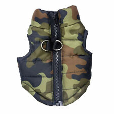 Dog Winter Coat Camouflage Jacket Pet Clothes Puppy Cat Apparel Costume CAMO