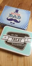 2 NEW Men Birthday Xmas Gift Tins DAD Collectable Fill your own Box Sock Sweets
