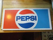 PEPSI COLA ADVERTISING COMPANY LOGO METAL POP OR SODA LARGE SIGN