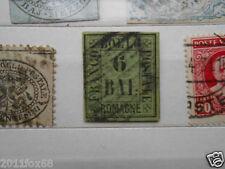 francobolli antichi stati romagne 6 baiocchi usato verde 1859 stato pontificio