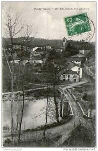 CPA 87 - SOLIGNAC - VUE GENERALE DE LA BOURGADE - PONT ENJAMBANT LA RIVIERE