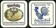 """ALT ! Bierdeckel """"Bauernjahr Ostbayern 1992"""" Arcobräu / Schlossbrauerei Moos"""