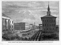 SANTA FE NEW MEXICO GENERAL VIEW 1879 ANTIQUE ENGRAVING SANTA FE 1879 HISTORY