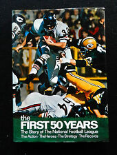 The First Fifty Years The Story of the NFL Bob Oates (1969 Hardcover ) Book