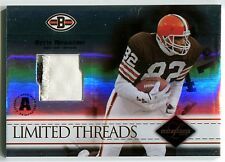 2004 Leaf Limited OZZIE NEWSOME Threads 3 Color Patch Browns HOF Rare SP #/25