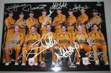 "2007 Australia World Cup Team x 12  Hand Signed Huge 12""x18"" Photo"
