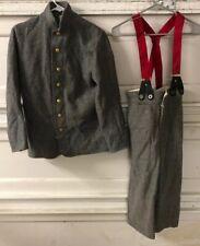 Civil War Cs Csa Confederate Infantry Shell Jacket 28 Pants 26
