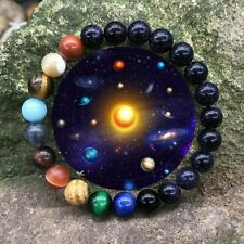 Eight Planets Bead Bracelet Natural Stone Universe Yoga Chakra Bangle Men Women