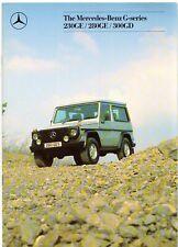 Mercedes-Benz G-Wagen 1988-89 UK Market Sales Brochure 230 280 GE 300 GD