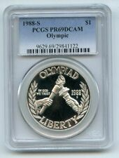 1988 S $1 Olympic Silver Commemorative Dollar PCGS PR69DCAM