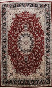 10x14 Traditional Floral Wool/ Silk Hand-knotted Area Rug Large Oriental Carpet