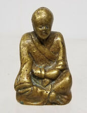 Antique Chinese Bronze Erotic Figure Statue Monk Lama 19th Century