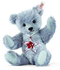 """STEIFF TEDDY BEAR """"Poinsettia"""" WITH Swarovski ORNAMENT Ean 681103 Mohair NEW/NIB"""