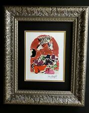 MARC CHAGALL ORIGINAL 1967 BEAUTIFUL SIGNED WINDOW OF JUDAH PRINT MATTED 11X14