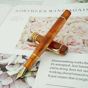 Kaigelu 316 Orange Acrylic Celluloid Fountain Pen, EF/F/M Nib Writing Pen Gift