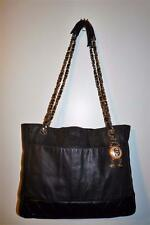 Vintage Chanel Quilted Leather Shoulder Bag Tote -Chain Straps & Key Fob