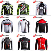 Pro Mens Team Cycling Long Sleeve Tops Bicycle Jersey Racing Clothing Sportswear