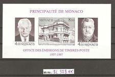 Monaco Block 37 B ungezähnt  sauber postfrisch