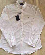 NWT $125 Ralph Lauren Men's Custom Fit Dress Shirt White Sz 16.5/42