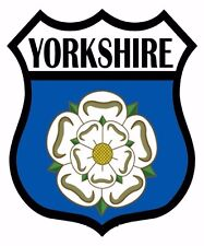 1 x Yorkshire Yorks Flag Decal Car Motorbike Laptop Window Sticker - Free P & P