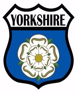 2 Yorkshire Yorks Flag Decal Car Motorbike Laptop Self Adhesive Backed Stickers