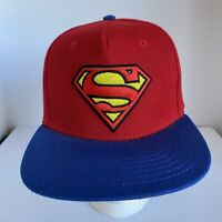 DC Comics Superman Embroidered Red& Blue Mens Snapback Hat- Image Under Brim