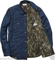 Supreme Shirt X Levis Western Denim Shirt Camo Lined Made In USA Supreme Levi's