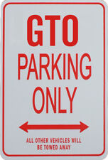GTO PARKING ONLY - MINIATURE FUN PARKING SIGN