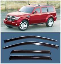 Chrome Trim Side Window Visors Guard Vent Deflectors For Dodge Nitro 2007-2010