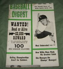 Baseball Digest Magazine May 1962 -Jim Landis Cover -Babe Ruth's Early Life .