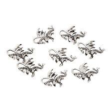 10pcs Tibetan Silver  welsh winged dragon beads 3D charm fit bracelet 20*14mm