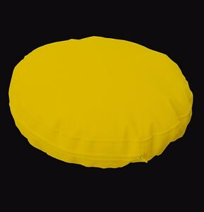 pa809r Yellow Round Water Proof Outdoor Thick Mattresses Cushion Cover Custom