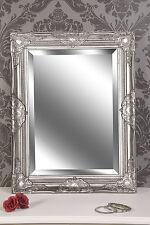 Spiegel Wandspiegel LAURA Barock antik  silber  65 x  50 cm