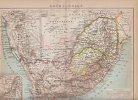 c. 1890 CAPE COLONY SOUTH AFRICA  Antique Map