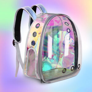 Pet Cat Carrier Backpack Small Dog Breathable Astronaut Space Capsule Tavel Bag