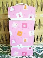 Steamer trunk for american girl or pleasant company dolls pink wardrobe chest