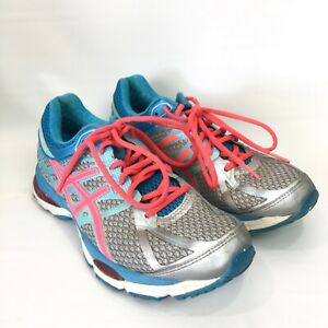 Asics Gel Cumulus 17 Womens Size 9.5 Running Shoes Fluidride Aqua Blue Sneakers