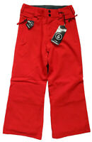 Volcom Boys Size XS or M Grimshaw Ins Pant Red Winter Ski/Snowboard ZipTech Snow