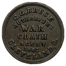 Civil War 1863 Cleveland Oh Store Card Token From War Claims Agent C.G. Bruce