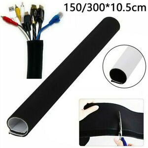 DIY Cable Management Sleeve Black Wrap Wire Cord Hider Cover Accessory Elements