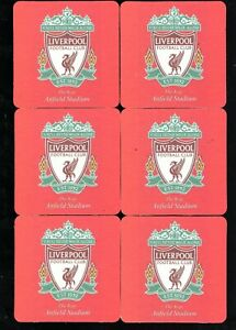LIVERPOOL F.C. The Kop Pack of Crested Beer Mats / Coasters FREE POST UK