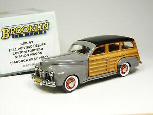 Brooklin BML03 1/43 1941 Pontiac Deluxe Wagon Handmade White Metal Model Car