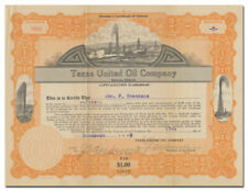 Texas United Oil Company Stock Certificate