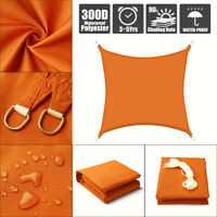 Sonnensegel Sonnenschutz Schattenspende Wasserdicht Rechteck 96%UV Schutz Orange