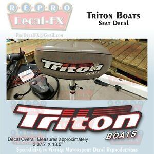 Triton Boats Seat Back Reproduction Decals 2 pieces(1 Pair) Hi-Tack Marine Vinyl